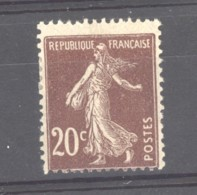 0ob  0524  -  France  :  Yv  139b  *    Type I    Brun Foncé - 1906-38 Semeuse Camée