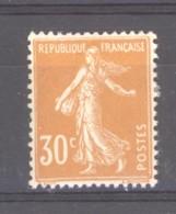 0ob  0528  -  France  :  Yv  141  * - 1906-38 Semeuse Con Cameo