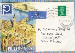 Great Britain Cover South West Africa SWA - 1970 - Machin Received Ausspannplatz - 1952-.... (Elizabeth II)