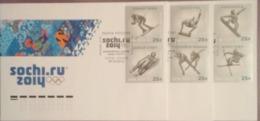 Russia 2012. Winter Olympic Sports. Set Of 3 FDCs. Sochi Postmark19 Oct 2012 - Inverno 2014: Sotchi