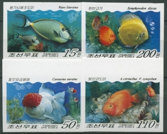 Korea (Nord) 2007 Fische: Oranda, Diskusbuntbarsch 5227/30 B Postfrisch - Corea Del Nord