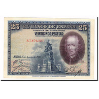 Billet, Espagne, 25 Pesetas, 1928, 1928-08-15, KM:74b, SUP - 1-2-5-25 Pesetas