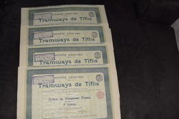 4X Tramways De Tiflis Pas De Capital (4) - Ferrocarril & Tranvías