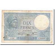 France, 10 Francs, Minerve, 1940, 1940-09-26, B+, Fayette:7.15, KM:84 - 1871-1952 Anciens Francs Circulés Au XXème