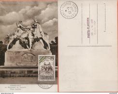 """Maroc;FDC 1er Jour 1952;carte Maximum;TP N°319 """" Monument Du Souvenir,médaille Militaire """" Casablanca """"Morocco;Marruecos - Cartas"""