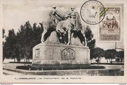 """Maroc;FDC 1er Jour 1952;carte Maximum;TP N°319 """"monument Du Souvenir,médaille Militaire """" Casablanca """"Morocco;Marruecos - Cartas"""