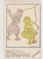 Cpa Signée ? / Rintintin à Sa Nénette  ...malgré Leur Bertha Tout Va Bien .Guerre 1914-1918 - Illustratori & Fotografie