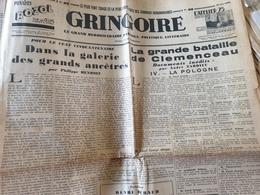 GRINGOIRE/HENRIOT /CLEMENCEAU TARDIEU /BLUM AURIOL /AUGUSTE LUMIERE /PAVIS /SUZY SOLIDOR /DANTZIG /MICHEL SIMON - 1900 - 1949