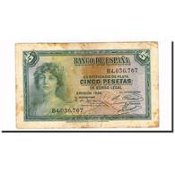 Billet, Espagne, 5 Pesetas, 1935, KM:85a, TB+ - [ 2] 1931-1936 : Repubblica
