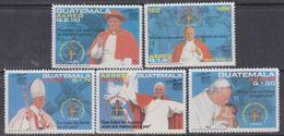 Guatemala PA N° 853 / 57 XX Voyage De S. S. Le Pape Jean Paul II Au Guatemala, Les 5 Vals Sans Charnière, TB - Guatemala