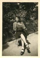 PARIS PARC MONCEAU 1942  PHOTO  9 X 6 CM - Plaatsen