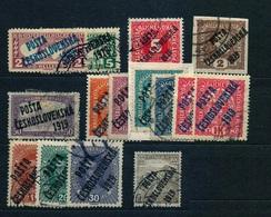 1919 - Lot Of POSTA CESKOSLOVENSKA - Used - Tschechoslowakei/CSSR