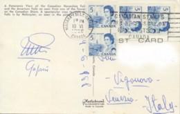 Canada 1968 Picture Postcard To Italy With Coil Stamps 4 X 5 C. Atlantic Provinces - 1952-.... Regno Di Elizabeth II