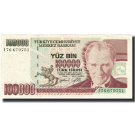 Billet, Turquie, 100,000 Lira, 1970, 1970-01-14, KM:205, NEUF - Turquia