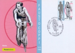 Italy 2019 FDC Maximum Card Centenary Birth Fausto Coppi Cycling Champion - Wielrennen