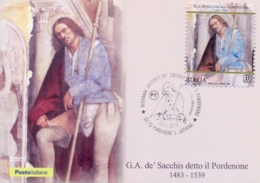 Italy 2019 FDC Maximum Card Painter Giovanni Antonio De' Sacchis The Pordenone - Arte