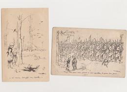 Lot De  7 Cpa Signées  Poulbot / Enfants -Guerre De 1914 -1918 - Poulbot, F.
