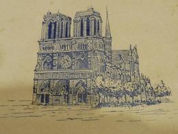 Lutèce :  Boite à Enveloppes Ancienne Déco NOTRE-DAME-DE-PARIS - Andere