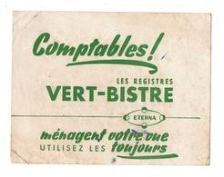Buvard Comptables Les Registres Vert-Bistre - Carte Assorbenti