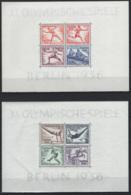 Germania Reich 1936 Unif. BF4/5 **/MNH VF/F - Blocks & Sheetlets