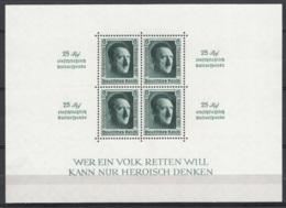 Germania Reich 1937 Unif. BF10 **/MNH VF/F - Blokken