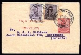 Argentina Buenos Aires 1919 / Postage 1/2 + 1/2 + 2 Centavo / Jose De San Martin / Newspaper Wrapper, Stamped Stationery - Interi Postali