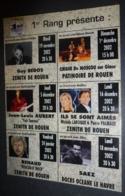 "Carte Postale ""Cart'Com"" (2002) - 1er Rang Présente : Guy Bedos, J.L. Aubert, Renaud ... Zénith De Rouen - Advertising"