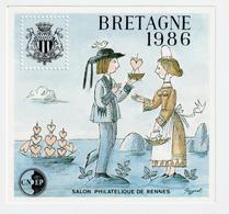 BLOC   CNEP  - N°  7  BRETAGNE  1986  - SALON PHILATÉLIQUE  DE RENNES    -  NEUF - - CNEP