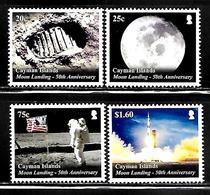 """Cayman Islands     """"Moon Landing""""     Set   New Issue December-13-2019    MNH - Cayman Islands"""