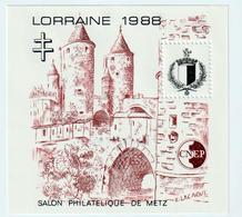 BLOC   CNEP  - N°  9 -  LORRAINE  1988  - SALON PHILATÉLIQUE  DE METZ    -  NEUF - - CNEP