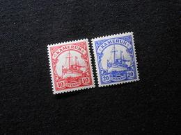 D.R. 22b/23 Llc**MNH  10/20Pf  Deutsche Kolonien (Kamerun) 1905/1919 -  Mi 11,50 € - Colony: Cameroun