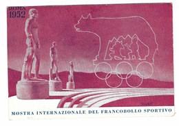 3466 - ROMA MOSTRA INTERNAZIONALE DEL FRANCOBOLLO SPORTIVO 1952 CONI FDC - Borse E Saloni Del Collezionismo