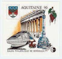 BLOC   CNEP  - N°  12-  AQUITAINE 1990  - SALON PHILATÉLIQUE  DE BORDEAUX    -  NEUF - - CNEP