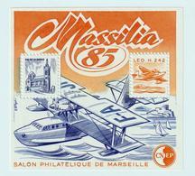 BLOC   CNEP  - N°  6   MASSILIA 1985  - SALON PHILATÉLIQUE  DE MARSEILLE    -  NEUF - - CNEP