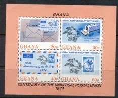 Ghana 1974 UPU Centenary MS MUH - Ghana (1957-...)