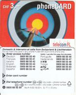LIECHTENSTEIN - Target, Telecom FL Promotion Prepaid Card, Sample - Liechtenstein