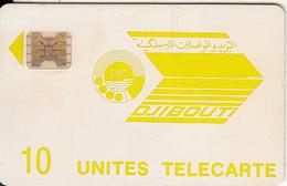 DJIBOUTI - Telecom Logo, First Issue 10 Units, CN : 11672, Tirage %15000, Used - Djibouti