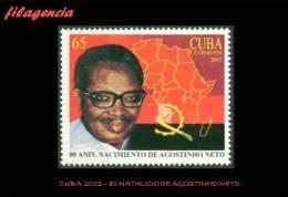 CUBA MINT. 2002-14 80 NATALICIO DEL EX PRESIDENTE DE ANGOLA AGOSTINHO NETO - Cuba