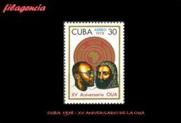 CUBA MINT. 1978-12 XV ANIVERSARIO DE LA ORGANIZACIÓN POR LA UNIDAD AFRICANA - Cuba