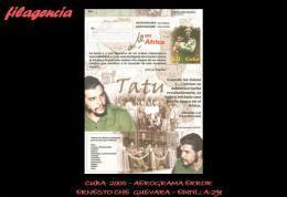 CUBA. ENTEROS POSTALES. AEROGRAMA 2005 ERNESTO CHE GUEVARA EN ÁFRICA. ERROR DE IMPRESIÓN - Cuba
