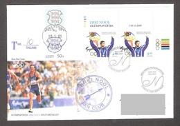 Estonia 2001 Corner Stamp+Label FDC Olympic Champion Erki Nool, Sydney 2000 Mi 390 REGISTERED - Summer 2000: Sydney - Paralympic