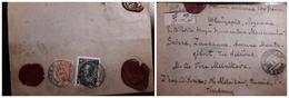 O) 1914 POLAND, LACRE SEALED, PAUL I SC 98 35k - ROMANOV DYNASTY, VERTICAL LOZENGES OF VARNISH ON FACE - SC 73 1k, F. - ....-1919 Provisional Government