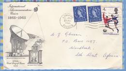 Great Britain Cover South West Africa SWA - 1966 (1965) - ITU Wildings World Cup Soccer - 1952-.... (Elizabeth II)
