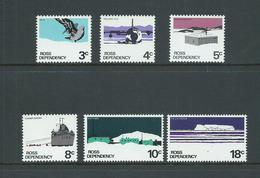 Ross Dependency 1972 Decimal Simplified Set Of 6 MNH - New Zealand