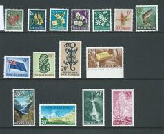 New Zealand 1967 Decimal Definitives Part Set Of 15 2c - $2 MNH - Unused Stamps