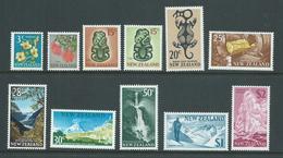 New Zealand 1967 Decimal Definitives Part Set Of 11 3c - $2 Fine Mint , Most MLH - Unused Stamps