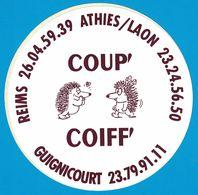 AUTOCOLLANT REIMS ATHIES / LAON COUP' COIFF' GUIGNICOURT - Aufkleber