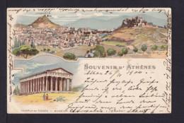 """1900 - 10 L. Privat Ganzsache """"Athen"""" - Gebraucht Nach Deutschland - 1886-1901 Petits Hermes"""