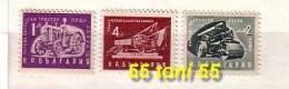 1951  Postage Stamp – (Tractor ,Steam Roller ,Truck) 3v.-MNH  Bulgaria / Bulgarie - 1945-59 République Populaire