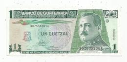 Billet , BANCO DE GUATEMALA , Un,1 Quetzal , 1995 , 2 Scans - Guatemala